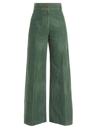 cotton green pants