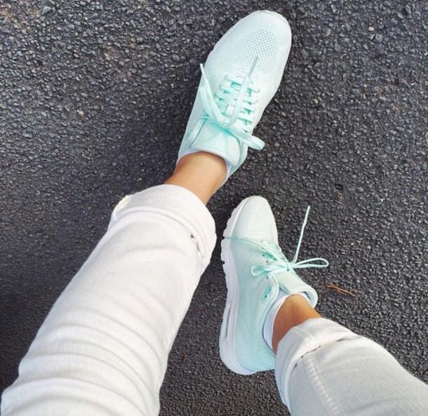 shoes blue nike mint