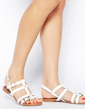 New Look | New Look Hero White Gladiator Flat Sandals at ASOS