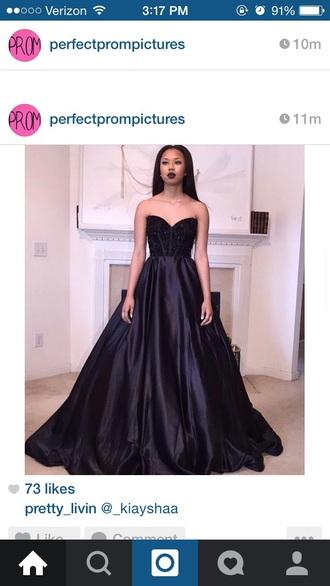 dress black dress ball gown dress sparkle dress