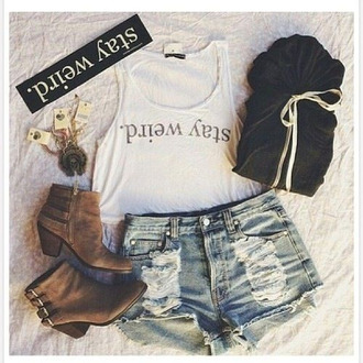 jacket stay weird black and white cut off shorts comfy outfits