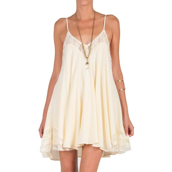 Lace inset trapeze dress