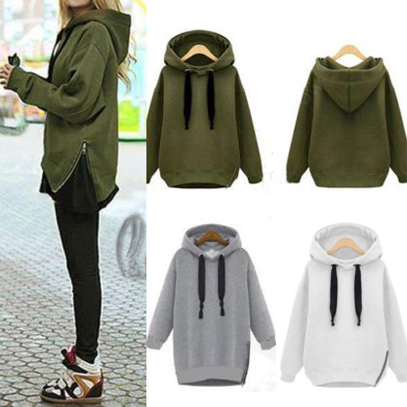 Women Oversized Hoodie Baggy Jumper Hooded Sweater Winter Coat ...