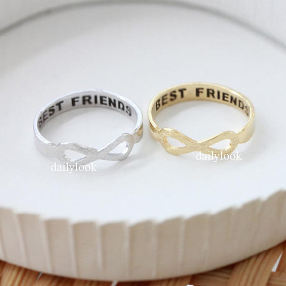 jewels infinity ring jewelry ring best friends infinity ring infinity best friends ring best friend ring infinite ring graduation dress