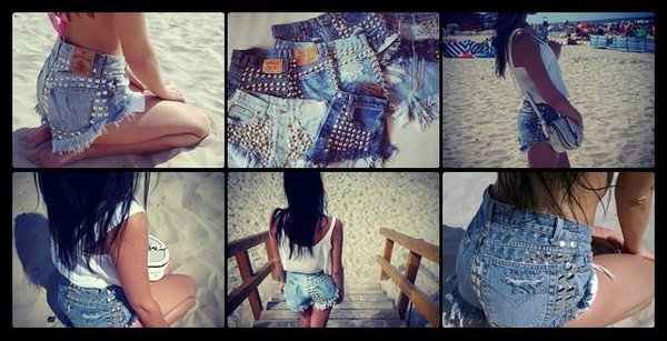 jeans girl vintage studded shorts levi's levi's denim High waisted shorts sexy shorts shorts