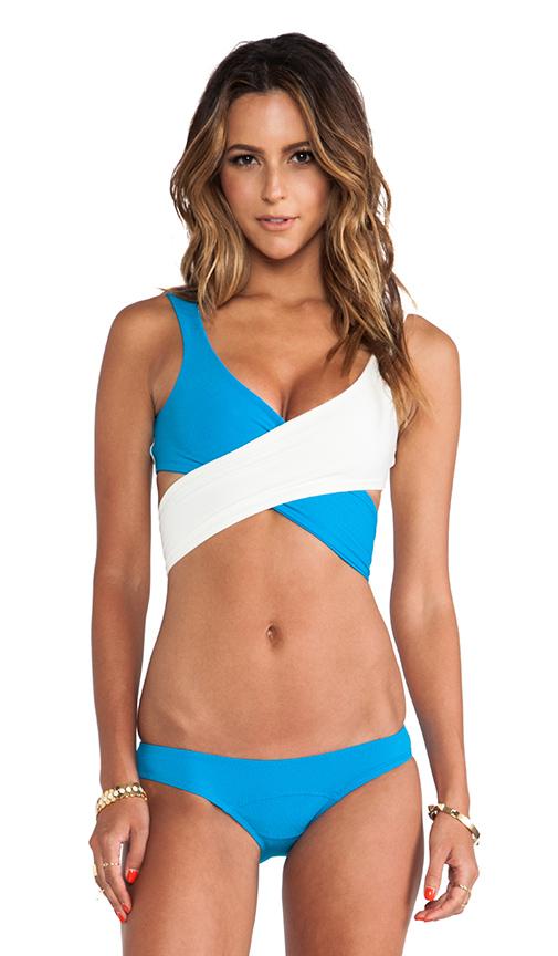 Louise bikini in aquamarine&ivory vintage from revolveclothing.com
