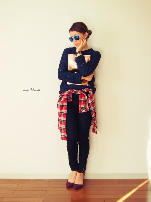 xoxo hilamee sweater pants shoes bag shirt sunglasses jewels