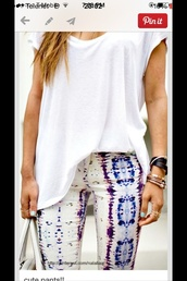 jeans,aztec,pants,colorful,clothes,jewels,jewelery,white,blue,hippie,indie,boho,jeweld,indian