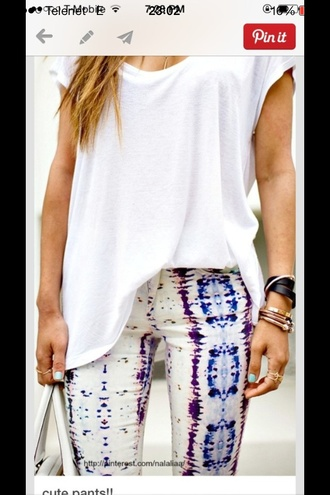 jeans aztec pants colorful clothes jewels jewelery white blue hippie indie boho jeweld indian