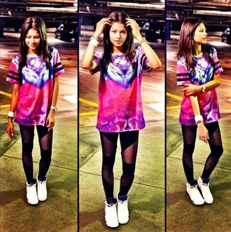 pants leggings zendaya black shirt