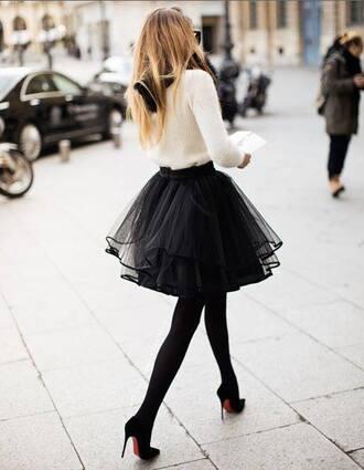 tulle skirt skirt tutu black tutu