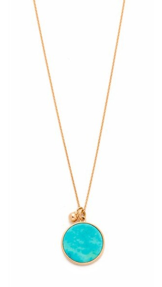 rose gold rose necklace gold turquoise jewels