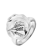 jewels,hagit sterling silver engraved branch ring,ring,silver,wheat,hagit gorali