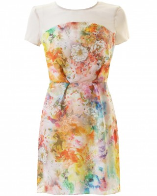 LOVE Multi Mirror Print Dress With Front Pleats - In Love With Fashion