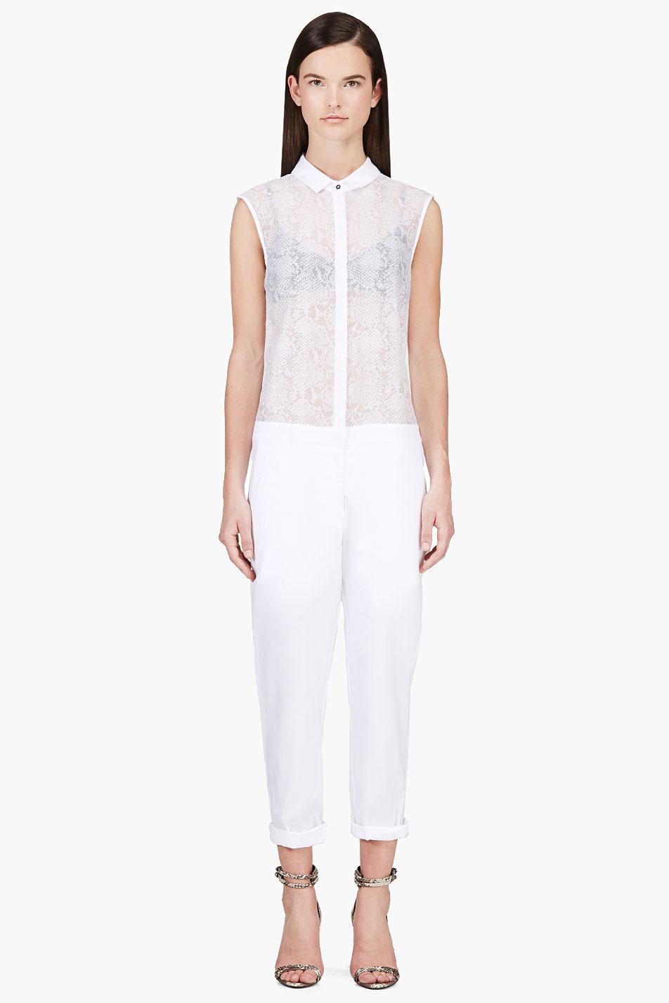 richard nicoll white semi_sheer python print jumpsuit