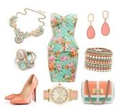 floraldress,dress,floral mint dress,mint dress