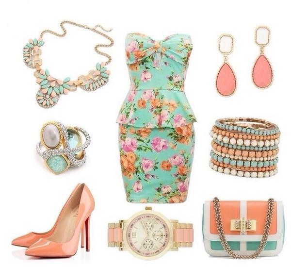 floraldress dress floral mint dress mint dress