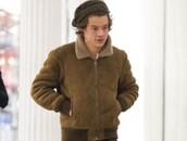 jacket,brown,harry styles,mens jacket,shearling jacket