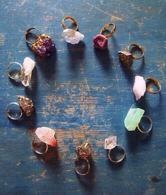 gemstone gemstone ring statement ring crystal quartz oversized ring boho jewelry fall accessories raw stone