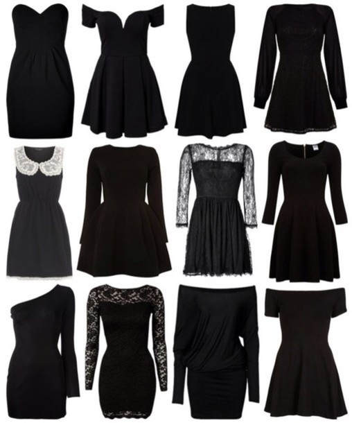 Dress: black, black dress, little black dress, cute, cute ...
