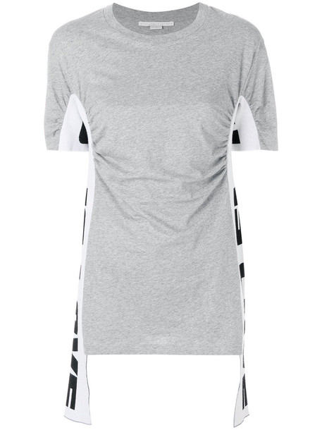 Stella McCartney t-shirt shirt t-shirt women draped cotton grey top
