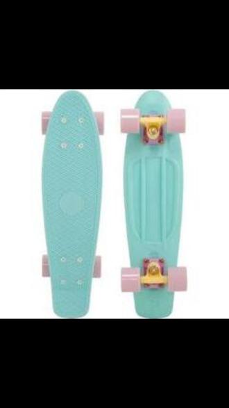 home accessory skateboard penny board cute pastel mint pink