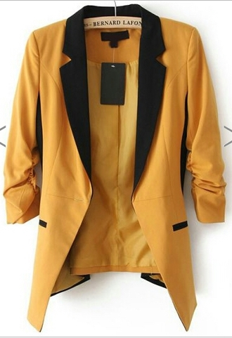 jacket bernard lafond yellow gold blazer