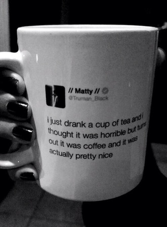 jacket cup mug costa coffee tea the 1975 band filter twitter tumblr style matty healy tumblr girl home accessory matty healy tweet mug