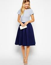 dress,navy dress,light blue,pleated,mid length