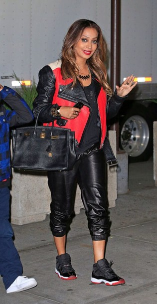 jacket celebrity style cute leather jacket red dope