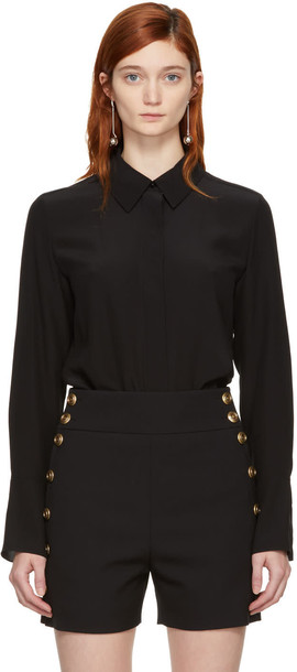Chloe shirt bow black top