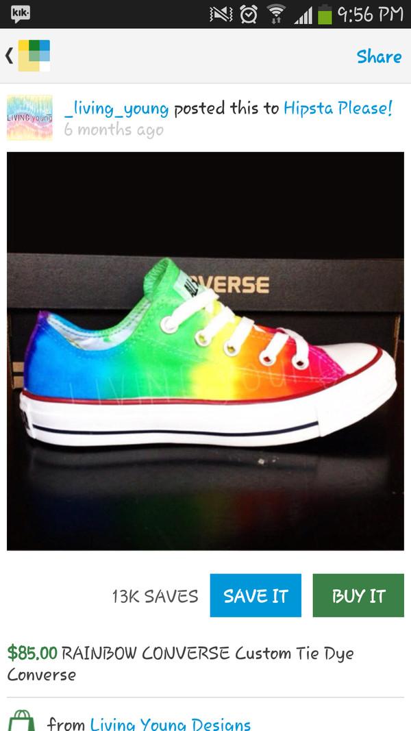 0ecc9c977112 WEEKEND SALE RAINBOW Converse Custom Tie Dye by LivingYoungDesigns