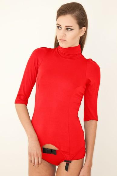 underwear red underwear garters sweater