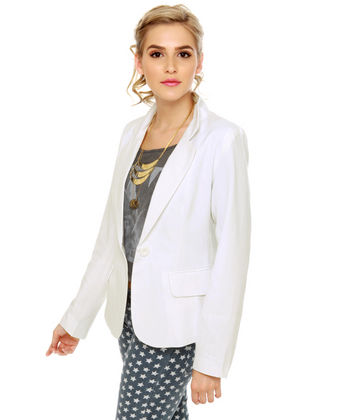 Cute White Blazer - Women's Blazer - White Jacket - $44.00 ($20-50) - Svpply