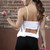 Flowing Open Back Sports Bra Top | Obsezz