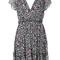 Msgm - star patterned dress - women - silk/polyester - 42, silk/polyester