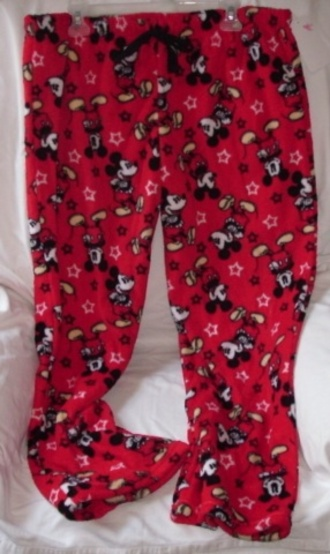pants pajamas mickey mouse red