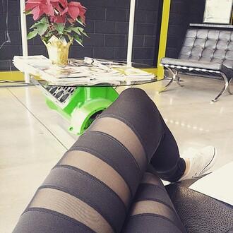 leggings mesh mesh leggings black black leggings mesh stripe detail