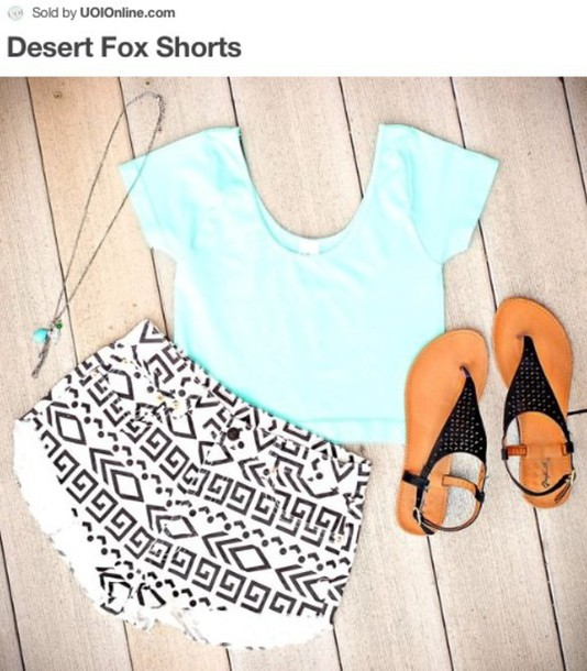 shorts tribal high waist shorts shirt