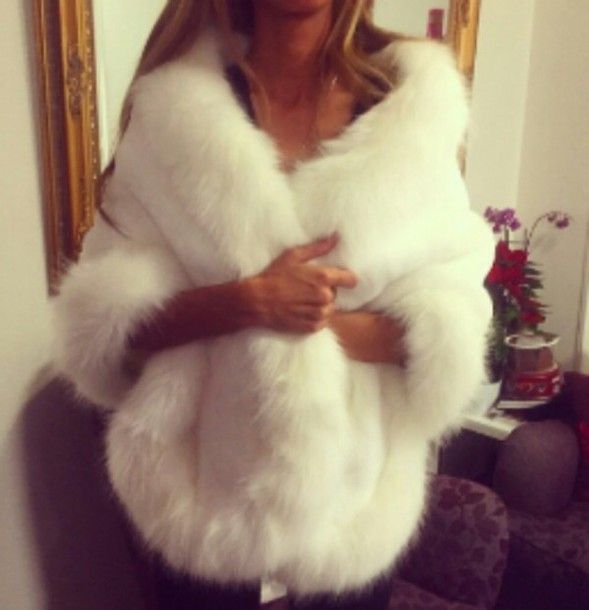 coat fur coat white coat white fur coat white fur furry coat white glamour jacket fur winter coat white sweater