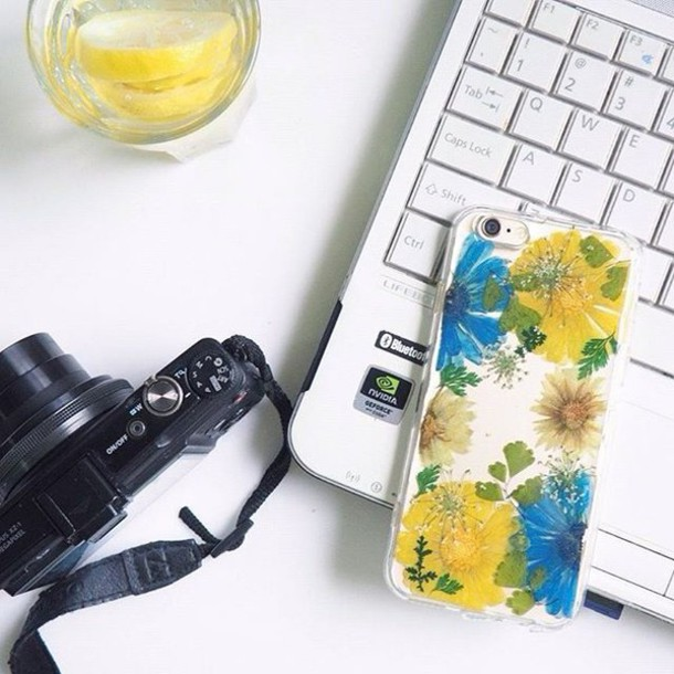 phone cover summer summer handcraft flowers floral samsung galaxy s7 samsung case gift ideas daisy yellow blue green flower cute girl handmade handcraft art iphone cover iphone case iphone 6 case iphone 5 case iphone 4 case samsung galaxy cases samsung galaxy s4 valentines day gift idea holiday gift mothers day gift idea
