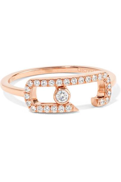 Messika - Move Addiction 18-karat Rose Gold Diamond Ring