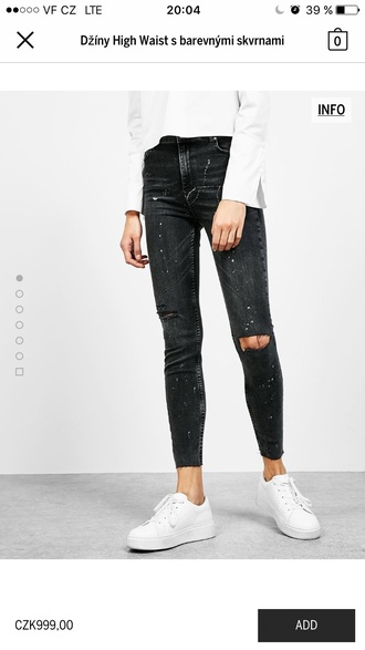 jeans black white girl women clothes shoes outfit fit