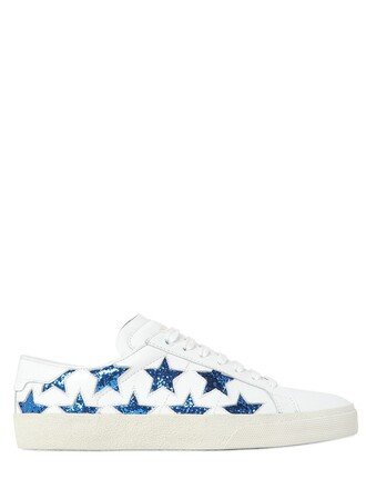 classic california sneakers white blue shoes