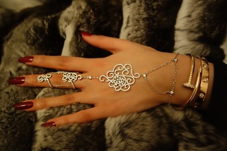 jewels hand chain slave bracelet body kandy couture jewelry hand jewelry knuckle ring ring bling bracelets stacked bracelets gold bracelet