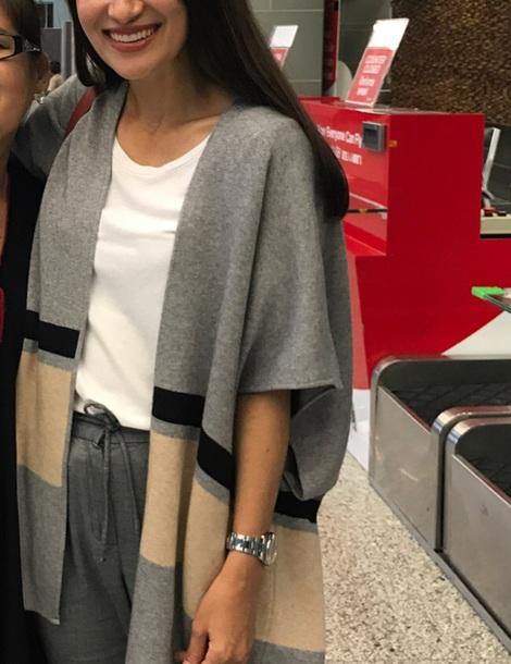 cardigan grey poncho