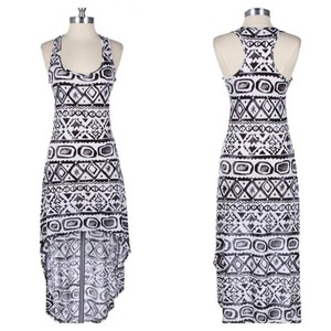 aztec tribal tribal print tribal print dress dress tribal pattern aztec print cute dress maxi dress summer dress high-low dresses tribal, ariana grande, selena gomez, cute, tribal aztec print white, summer, aztec, tribal, hi low dress, aztec dress