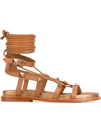 flat gladiator sandals sandals brown shoes