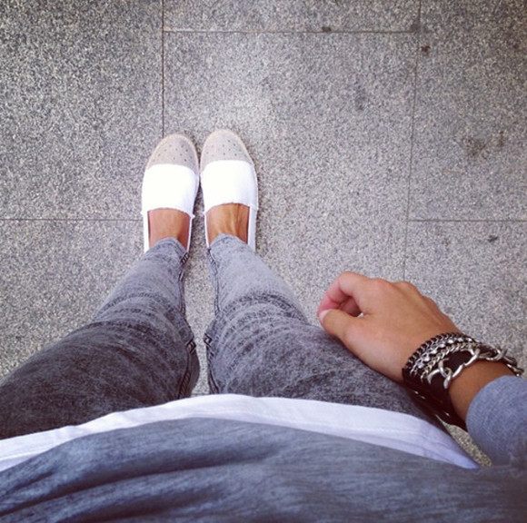 shoes flats jeans fashion