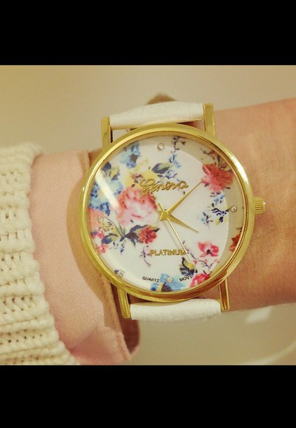 watch flowers cute geneva jewels